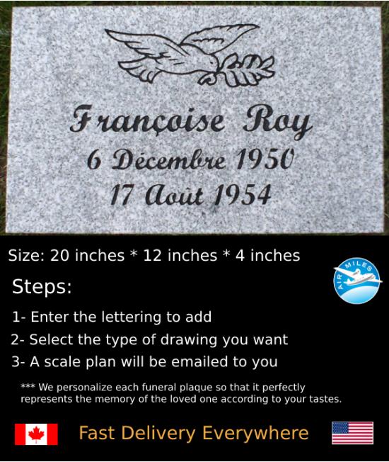 Flat Granite Marker #016
