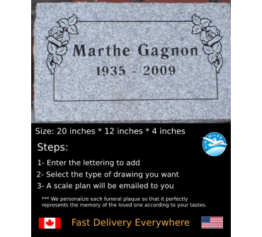 Flat Granite Marker #018