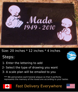 Flat Granite Marker #020