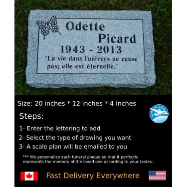 Flat Granite Marker #029