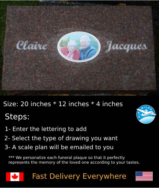 Flat Granite Marker #033