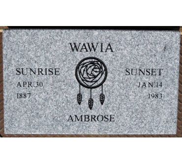 Granite Memorial Plaques #013