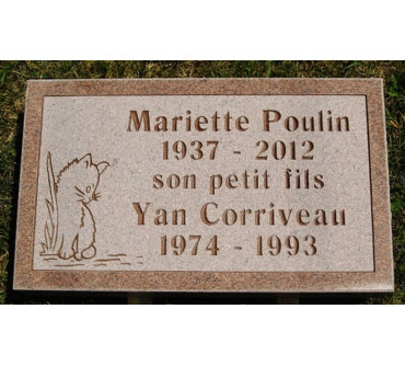 Granite Memorial Plaques #027